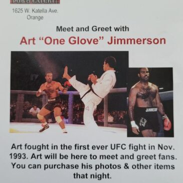 """Sat. May 15th @ The Tilted Kilt in Orange – Art """"One Glove"""" Jimmerson"""