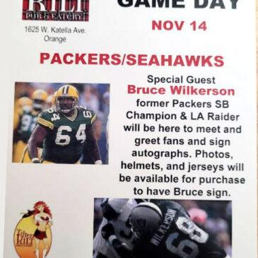 Packers vs Seahawks at The Tilted Kilt in Orange – November 14th